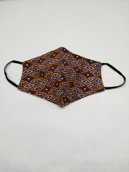 Brown print cloth mask - medium picture