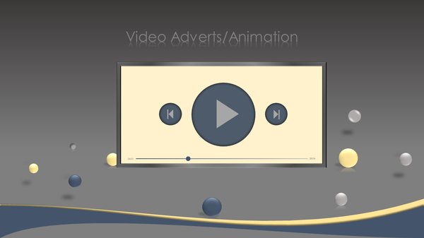 Video adverts (video animation) picture