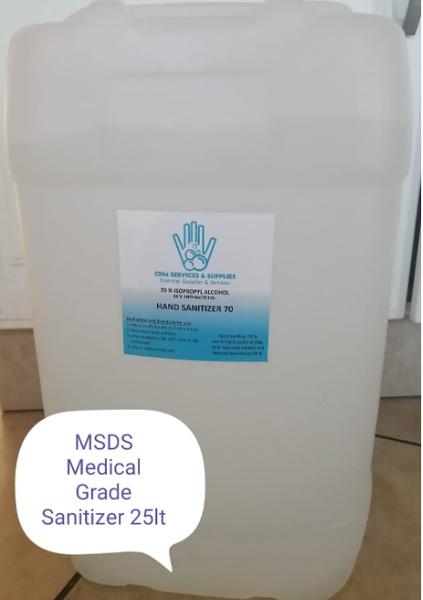 Msds medical graded sanitizer picture