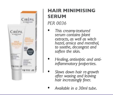Hair minimizing serum picture