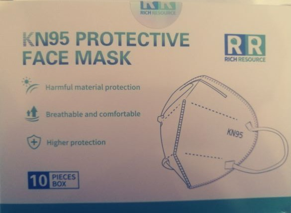 Kn95 protective face mask picture