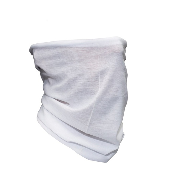 Protective face buff- plain white picture