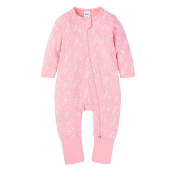 Pink floral baby grow picture