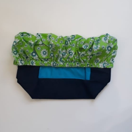 Trolley cover lime green daisy picture