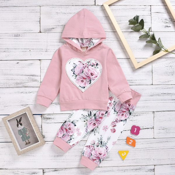 Girly floral tracksuit picture