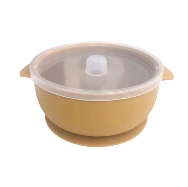 Suction silicone bowl and lid picture