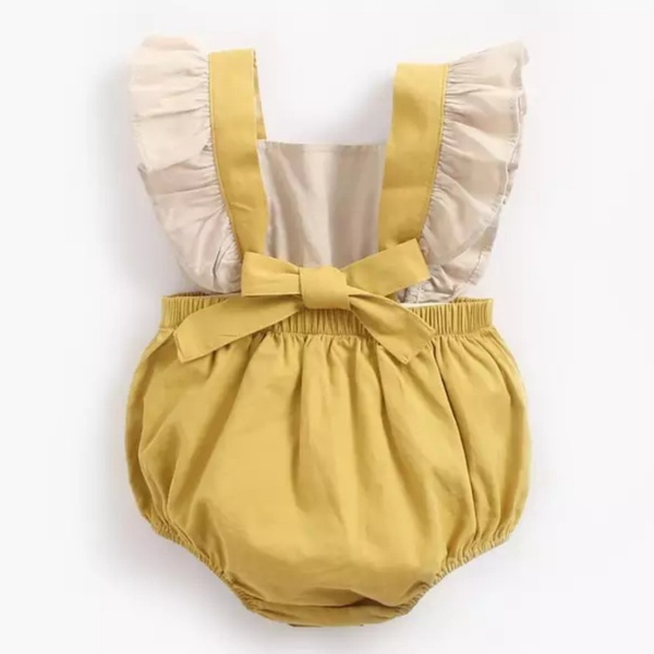 Pink and mustard romper picture