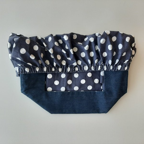 Stone washed polka-dot navy picture