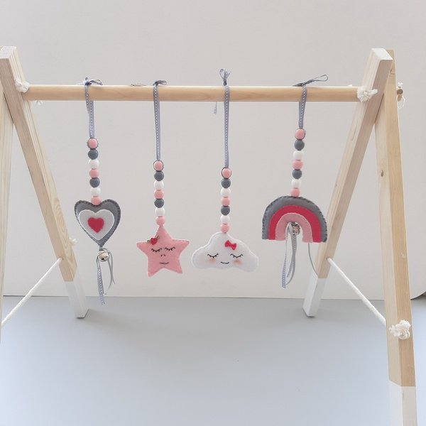 Rainbow baby gym dangles picture