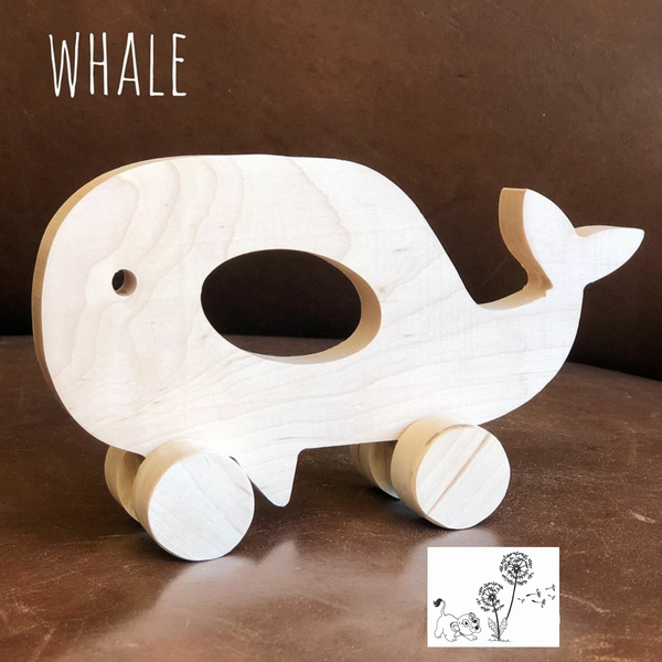 Assorted maple wooden animal toys picture
