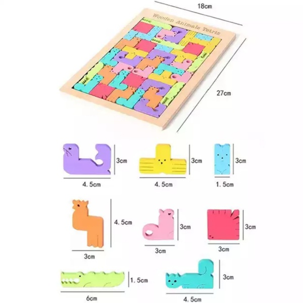 3d wooden animal jigsaw puzzle picture