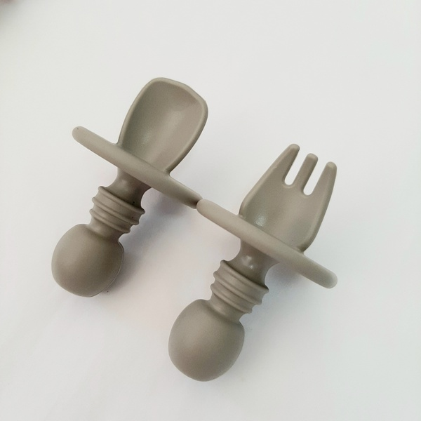 Silicone fork and spoon set picture