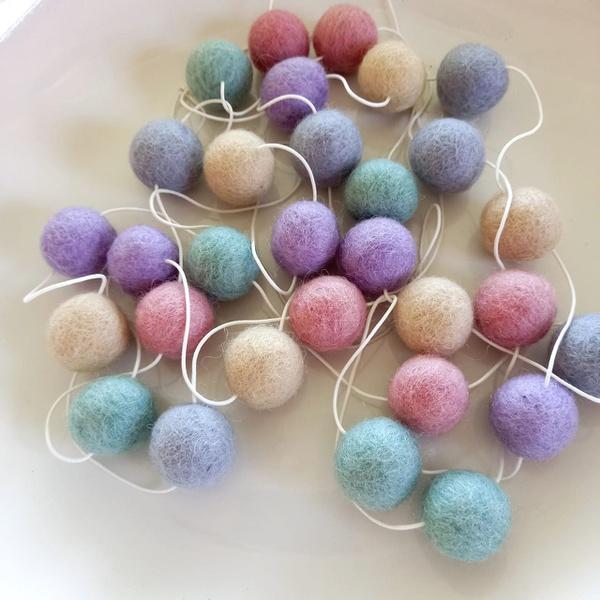 Wool felt garland- neutral tones picture