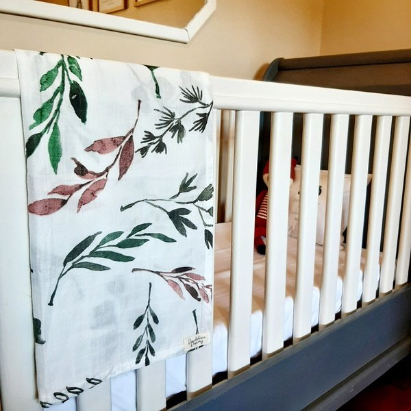 Floral muslin blanket picture