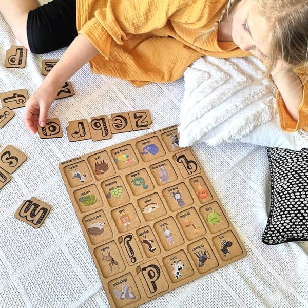 Abc posting puzzle picture
