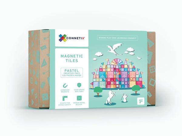 Connetix tiles 120 pieces pastel picture