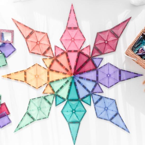 Connetix tiles 40 pc geometry pastel picture