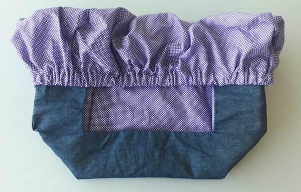 Trolley cover purple polka dot picture