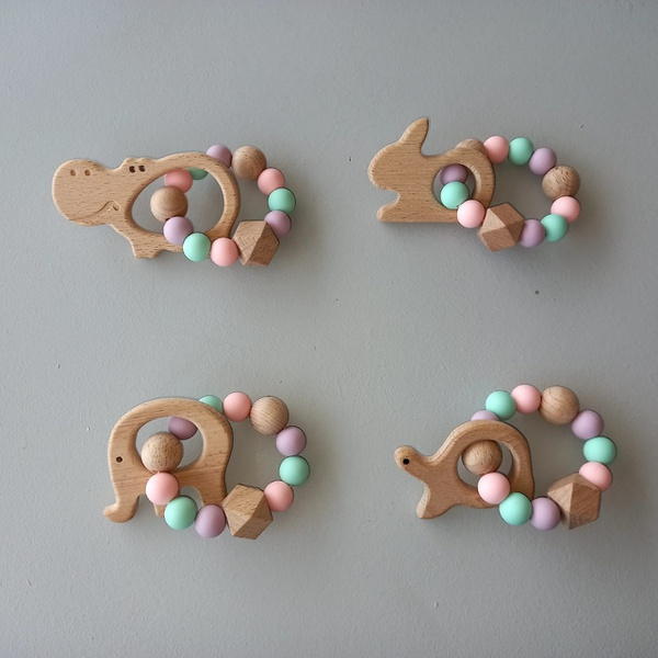 Rattle ring teether (4 colour choices) picture