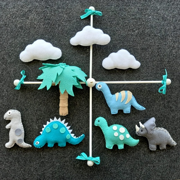 Dinosaurs themed mobile picture