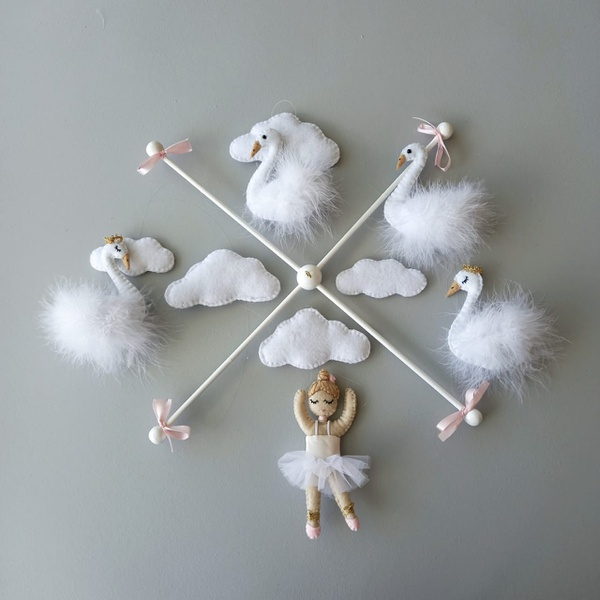 Swan & ballerina themed mobile picture