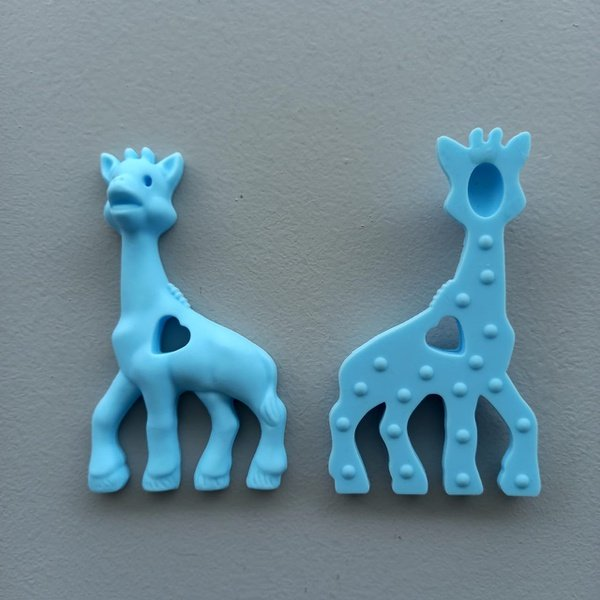 Silicone giraffe teethers picture