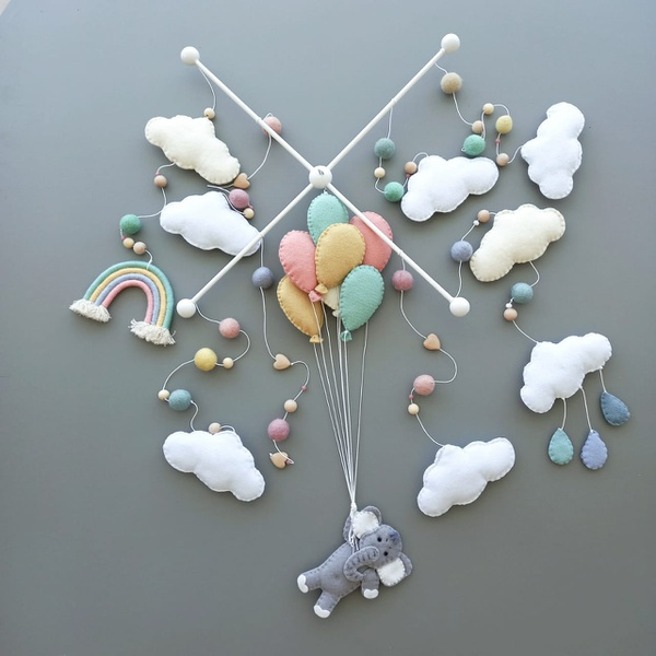 Balloon elephant themed mobile picture