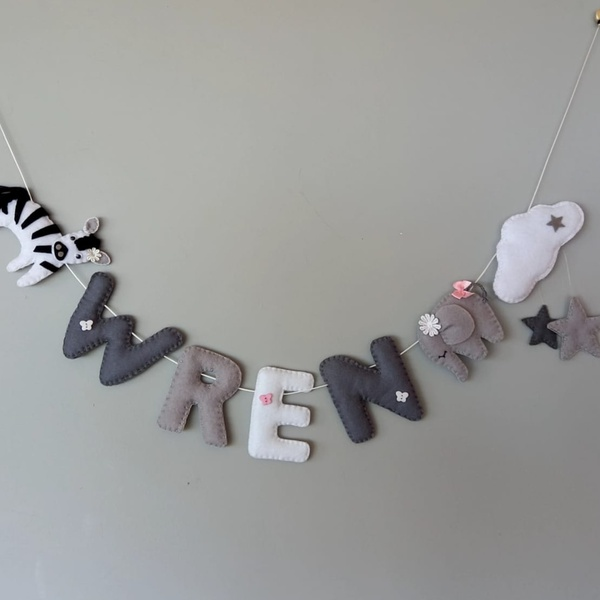 Custom name & character garland picture