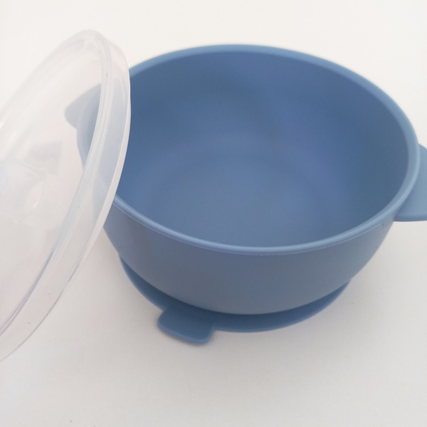 Suction silicone bowl & lid picture