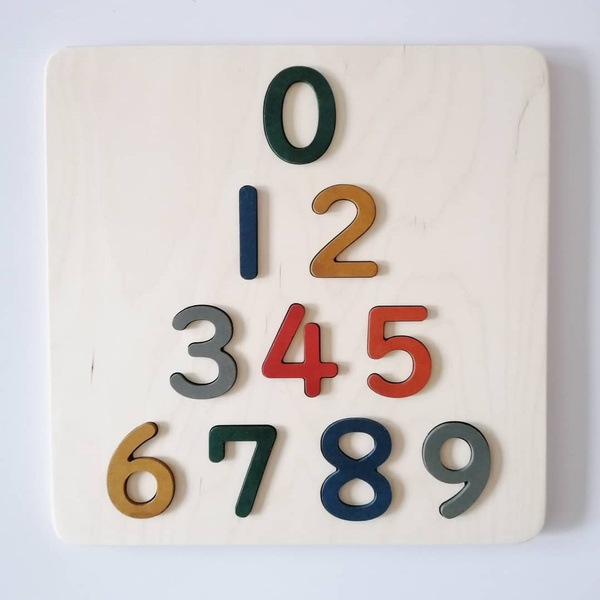 Number board puzzle picture