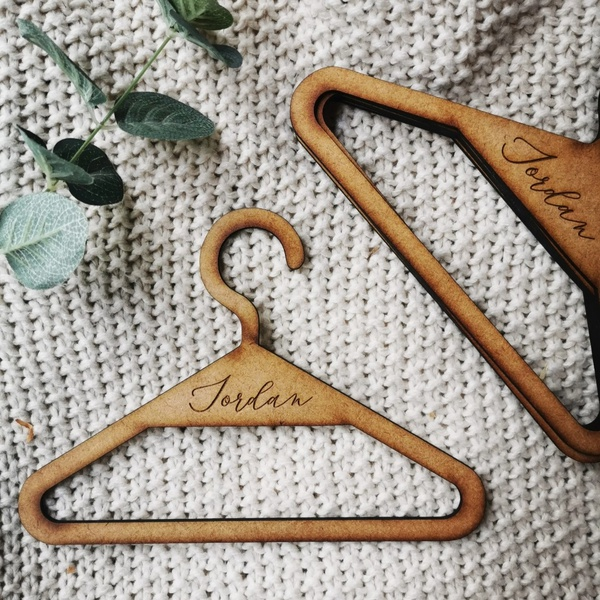 Personalized baby hangers picture
