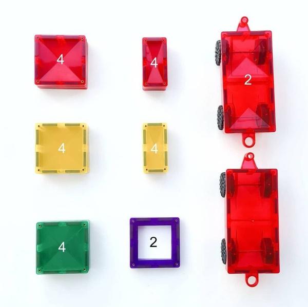 Connetix tiles 24 pieces (car pack) picture