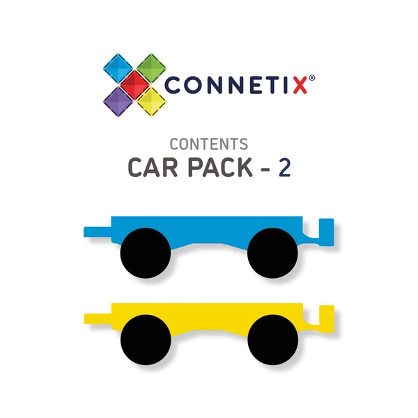 Connetix tiles 2 piece car pack picture