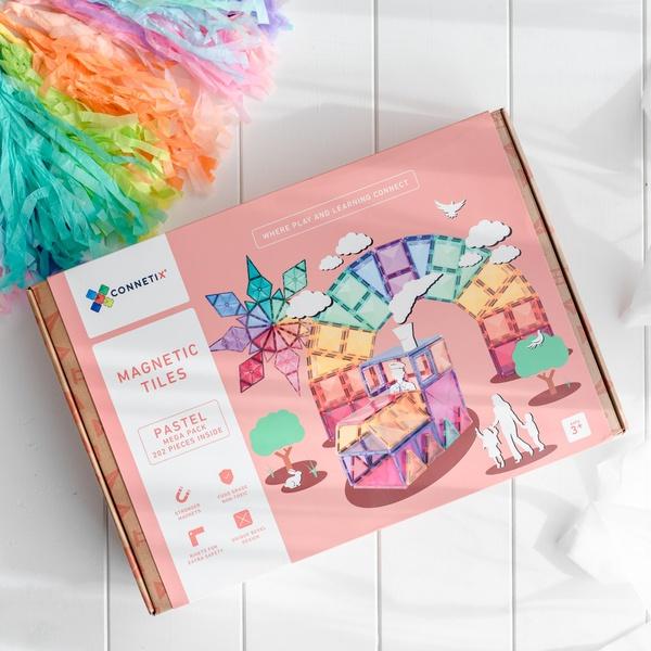 Connetix tiles 202 pieces pastel picture