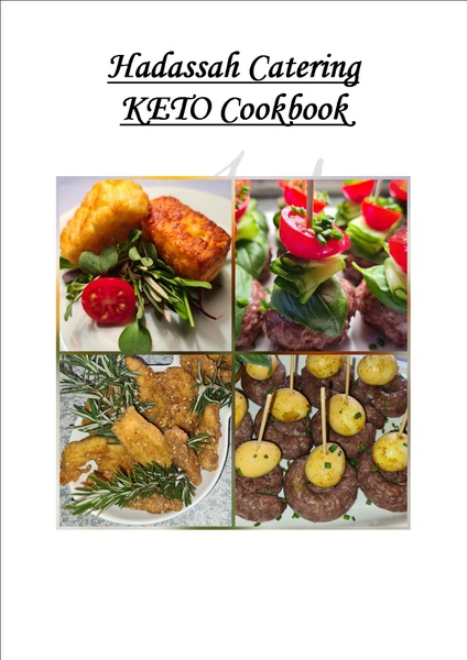 Hadassah catering keto cookbook picture