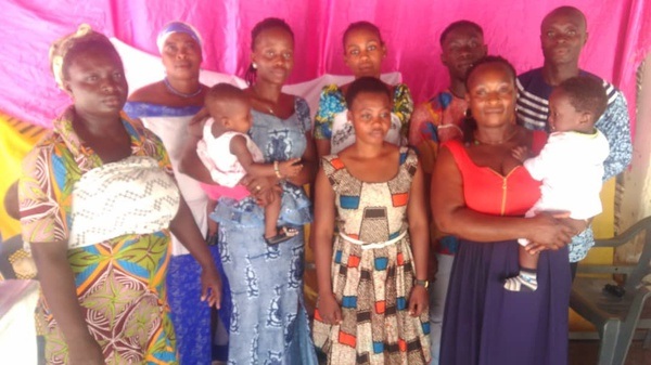 New converts at agona missiom picture