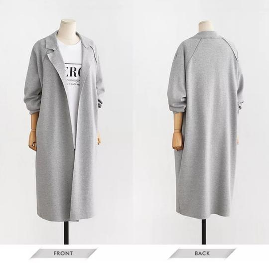 Autumn turn-down collar trench coat picture