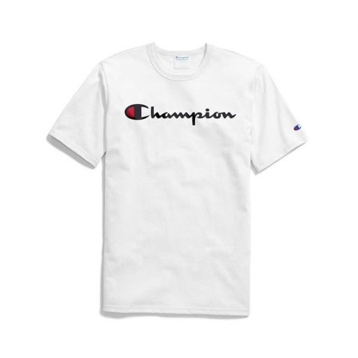 Champion graphic white tee picture