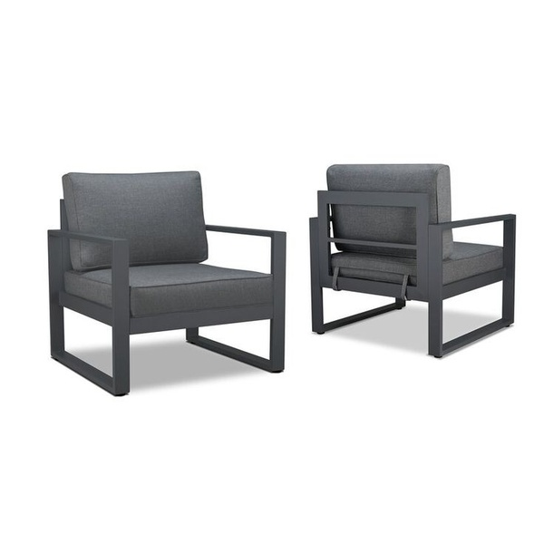 Outdoor furniture single seater chair picture