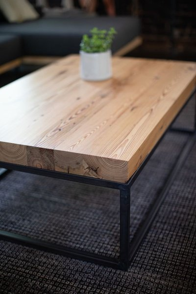 Cedar wood coffee table picture