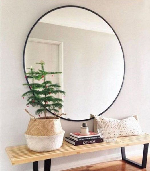 Large round mirror picture