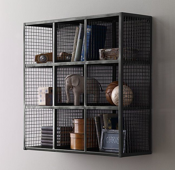 Kids industrial cube shelving picture