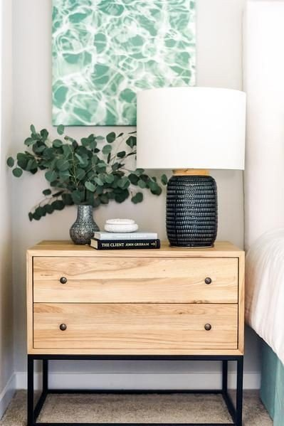 Double draw side table picture