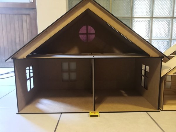 Dollhouse 2-storey a-frame picture