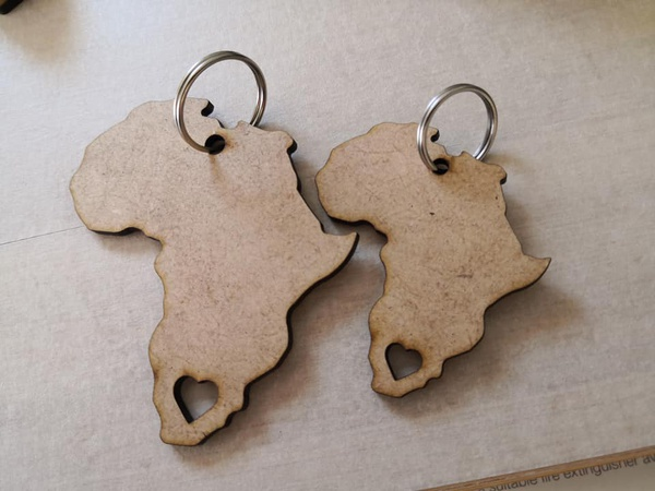 Africa keyring picture
