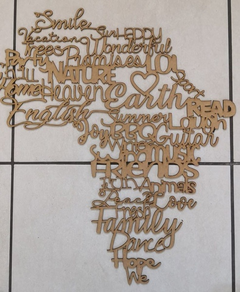 Africa wall art - english picture