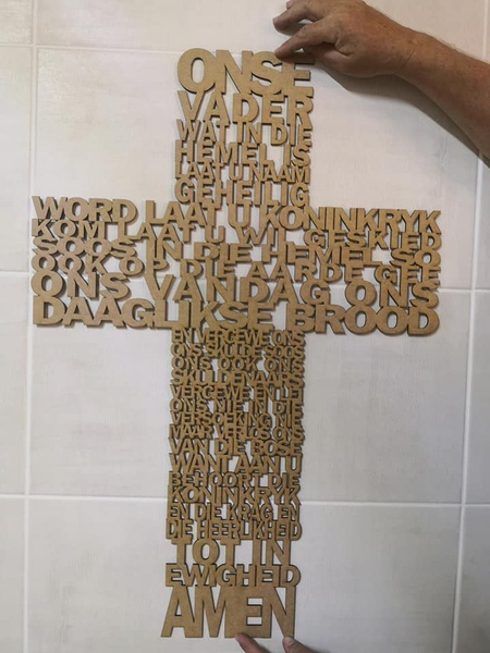 Prayer cross (english or afrikaans) picture