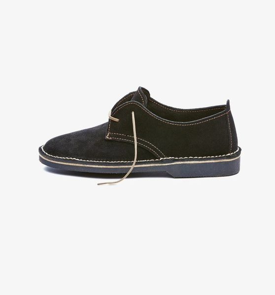 𝐓𝐡𝐞 𝐋𝐞𝐠𝐞𝐧𝐝 - suede low cut velskoen - midnight black picture