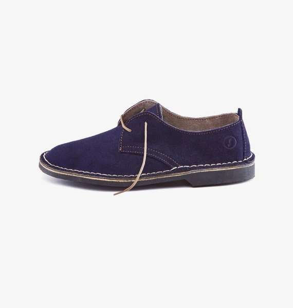 𝐓𝐡𝐞 𝐋𝐞𝐠𝐞𝐧𝐝 - suede low cut velskoen - ocean blue picture