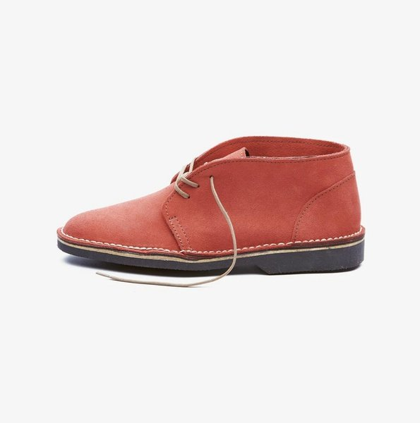 𝐓𝐡𝐞 𝐋𝐞𝐠𝐞𝐧𝐝 - suede high cut velskoen - mandarin red picture